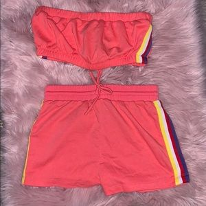 Forever 21 tube top and shorts set
